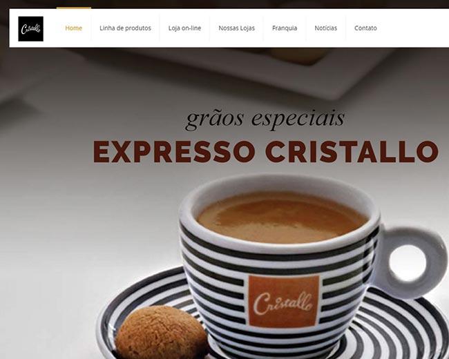 Site e E-commerce da Cristallo
